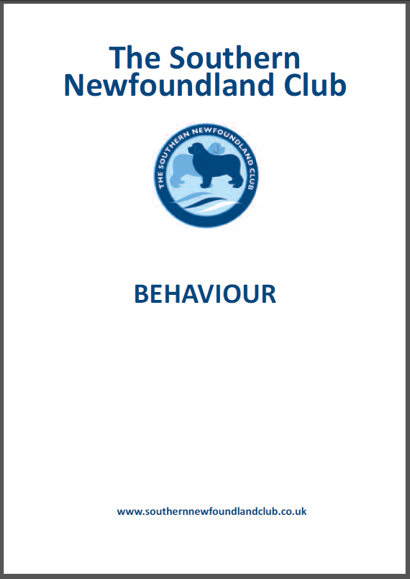 Behaviour booklet cover